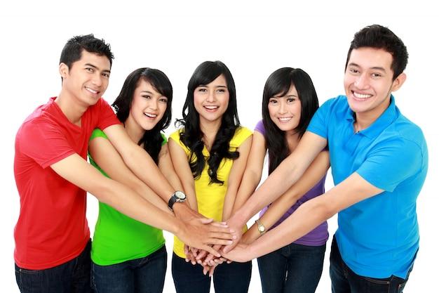 Unidade com as mãos juntas