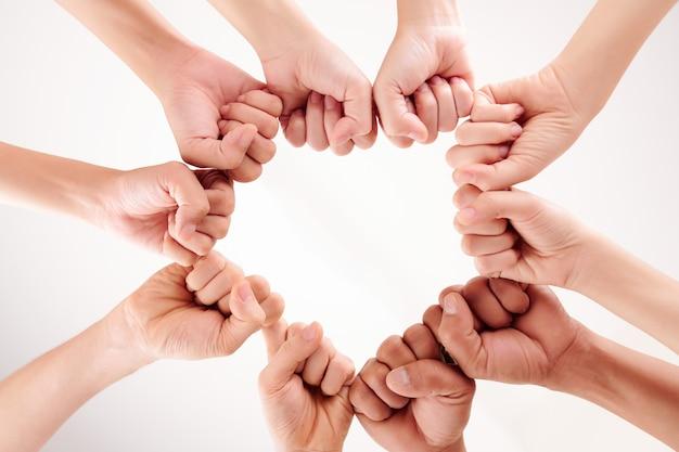 Unidade de pessoas multiétnicas