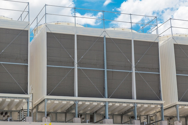 Unidades maiores no telhado de refrigeradores de água de ar condicionado para grandes sistemas de refrigeração de ar da indústria