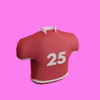 Uniforme de camisa de futebol americano 3d em fundo rosa