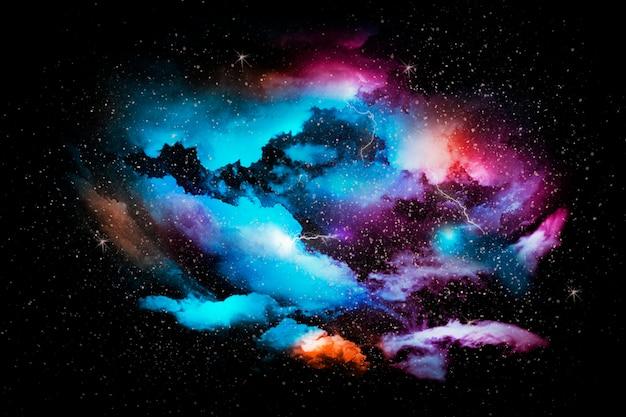 Universo abstrato colorido com textura de fundo