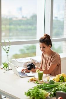Upload da câmera do formulário de conteúdo para o laptop