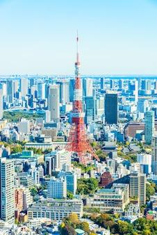 Urbano vista empresarial marco arranha-céus