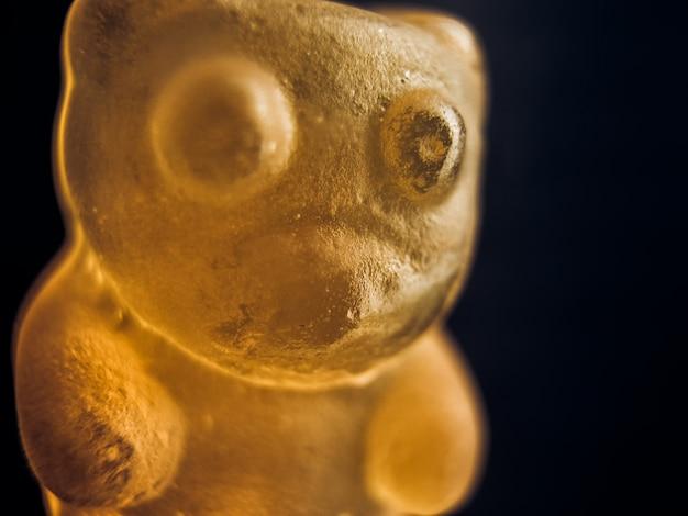 Ursinho de goma. macro