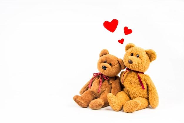 Urso de pelúcia com coração