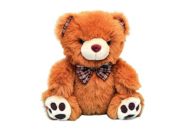 Urso de pelúcia marrom isolado. brinquedo de pelúcia para crianças, presente de dia dos namorados.