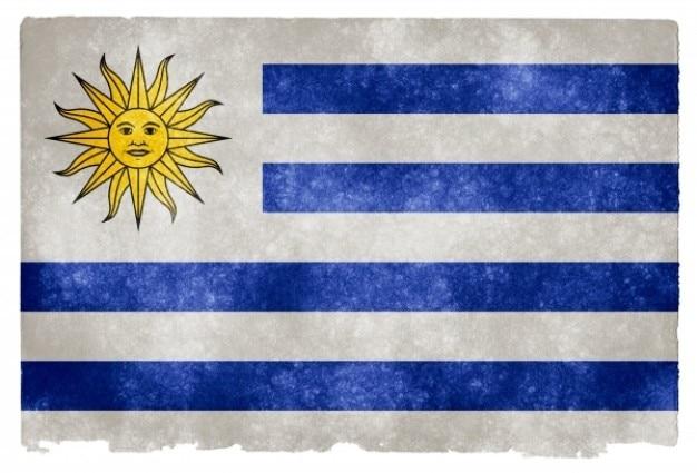 Uruguai bandeira do grunge