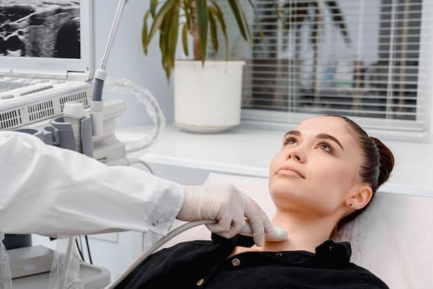 Usando ultrassom para verificar a glândula tireóide