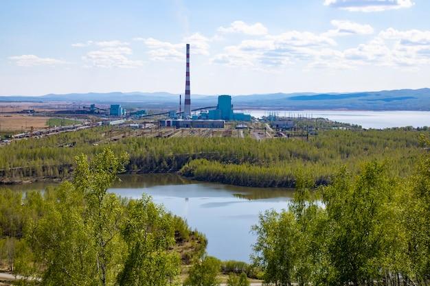 Usina a carvão para geração de eletricidade tubo da usina produção de eletricidade