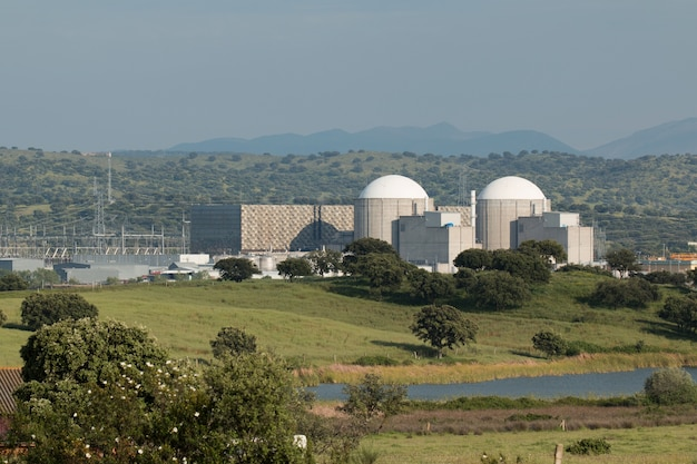 Usina nuclear de almaraz, no centro da espanha