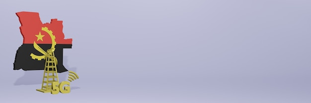 Uso de 5g em angola para as necessidades de tv nas redes sociais e capa do site espaço em branco