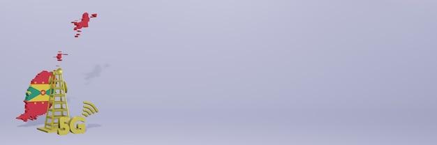 Uso de 5g em granada para as necessidades de tv de mídia social e espaço em branco da capa do site