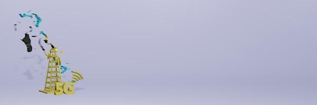 Uso de 5g nas bahama para as necessidades de tv de mídia social e espaço em branco da capa do fundo do site