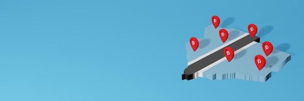 Uso do pinterest em botswana para as necessidades de tv de mídia social e cobertura de plano de fundo do site