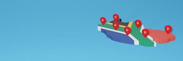 Uso do pinterest na áfrica do sul para as necessidades de tv de mídia social e cobertura de plano de fundo do site