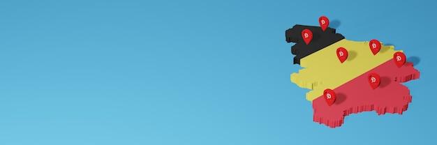 Uso do pinterest na bélgica para as necessidades de tv de mídia social e espaço em branco da capa do site