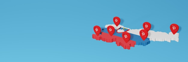 Uso do pinterest na eslovênia para atender às necessidades de tv nas redes sociais e cobertura do plano de fundo do site
