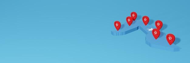 Uso do pinterest na somália para as necessidades de tv de mídia social e cobertura de plano de fundo do site