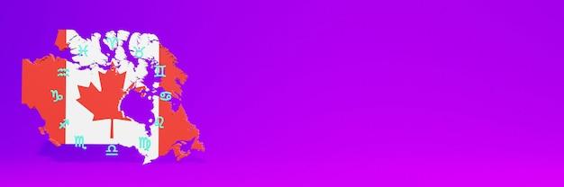 Uso do zodiac in canad para as necessidades das mídias sociais, tv e espaço em branco da capa do site