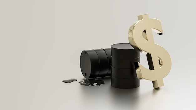 Usoil, investimento e negociação em ações, renderização de ilustração 3d