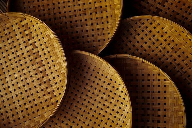 Utensílios de cozinha de bambu asiáticos