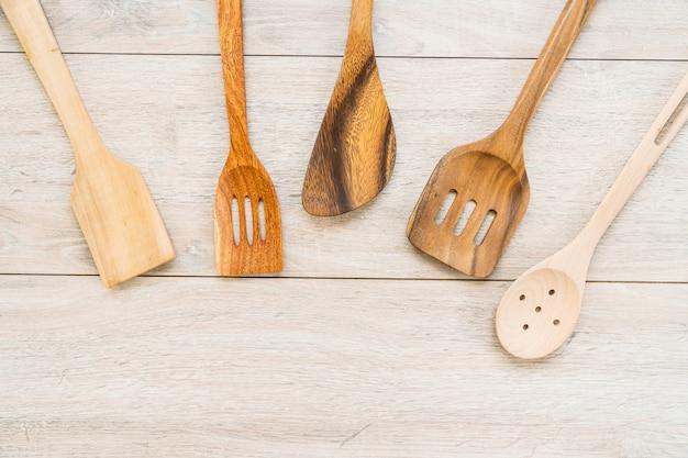 Utensílios de madeira