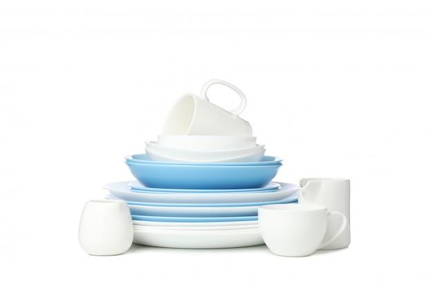 Utensílios de mesa isolado no branco