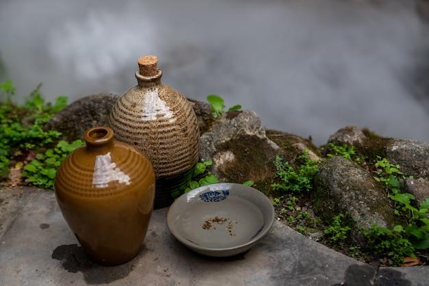 Utensílios e tigelas para cerâmica de vinho chinês