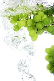 Uva caiu na água