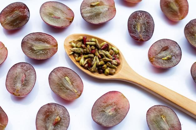 Uva fresca com sementes