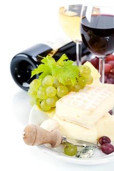 Uva, vinho e queijo