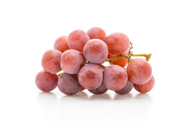 Uvas frescas na mesa branca