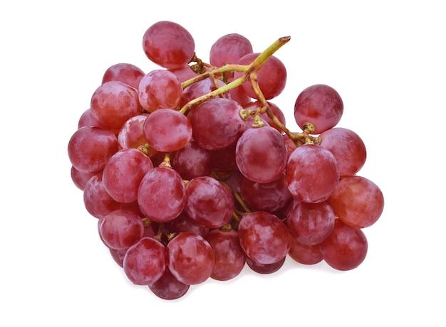 Uvas isoladas sobre branco