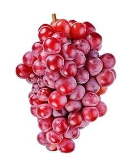 Uvas vermelhas isoladas no branco