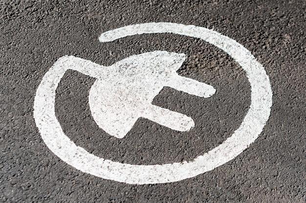 Vaga de estacionamento para carregar carros elétricos