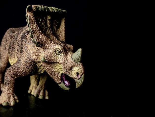 Vagaceratops triceratops dinossauro no preto