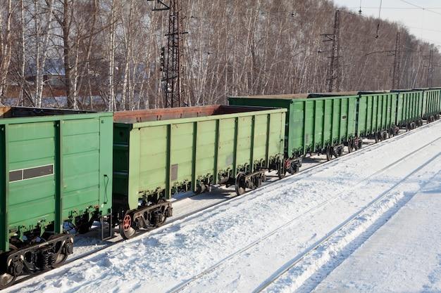 Vagões de carga na estação