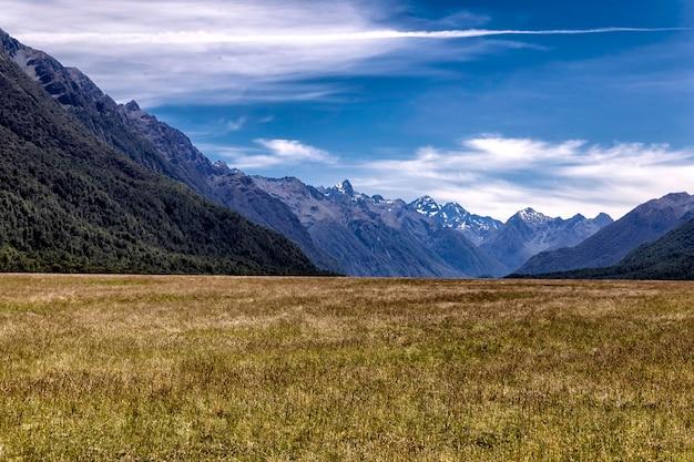 Vale de eglington no parque nacional fiordland, nova zelândia
