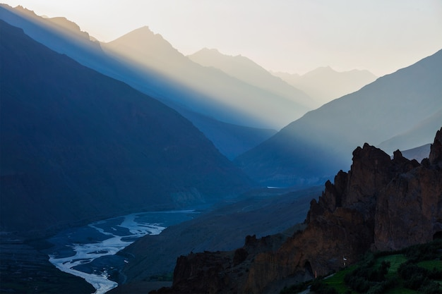 Vale de spiti, himachal pradesh, índia