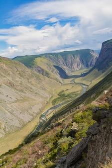 Vale do rio, vista superior