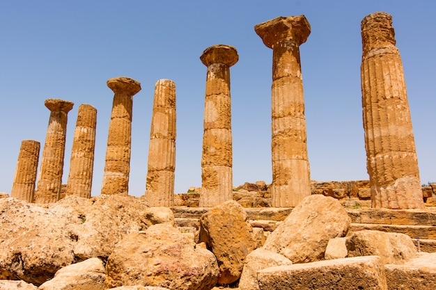 Vale dos templos, agrigento sicília, na itália,