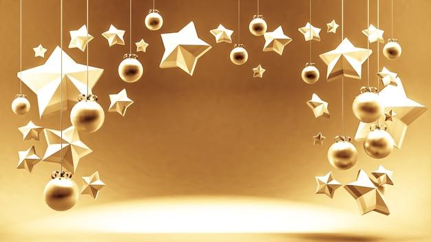 Vale-presente, certificado, ano novo, natal, renderização de ilustração 3d de férias