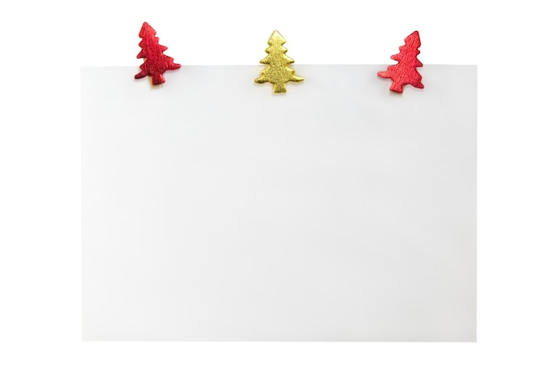 Vale-presente de natal em branco