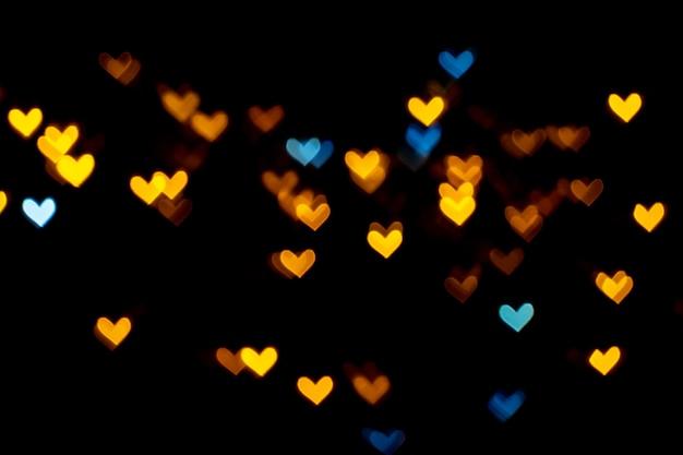 Valentine grunge luzes em forma de coração