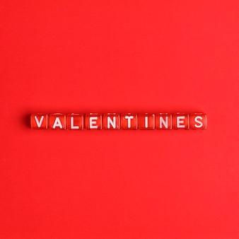 Valentines contas de letras do alfabeto de palavras