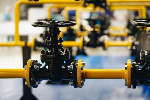 Válvulas de segurança na fábrica de gás