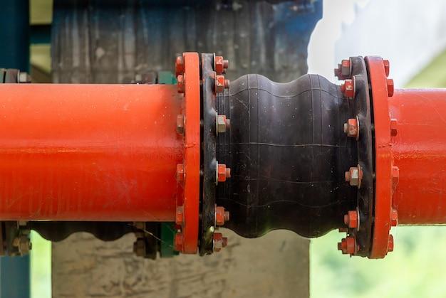 Válvulas na planta de gás