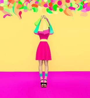 Vamos às comprasglamorous fashion lady
