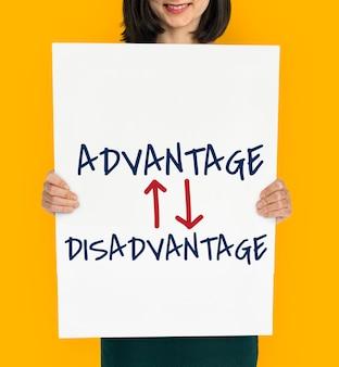 Vantagem desvantagem situação de diferença oposta