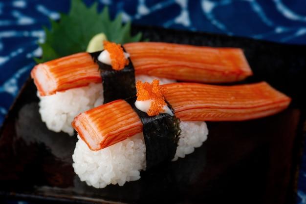 Vara de caranguejo japonês ou sushi kani.